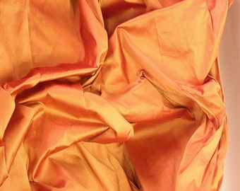 Silk Fabric for curtains 118 inches long burnt orange with