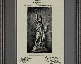 Statue of Liberty Patent Art Wall Hanging  Attorney Lawyer Judge Gift B1023