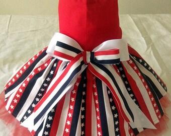 Stars and Stripes Patriotic Dog Dress