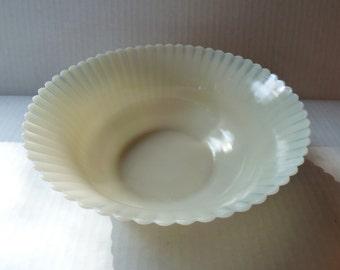 Vintage Macbeth-Evans Monax Petalware Opalescent Glass Bowl