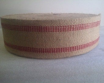 Red Jute Webbing - By The Yard