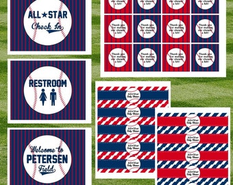 Baseball Baby Shower Party Pack