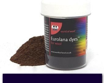 Navy Blue - Eurolana Wool Dye - Hand Dye Your Own Wool - Roving/Top