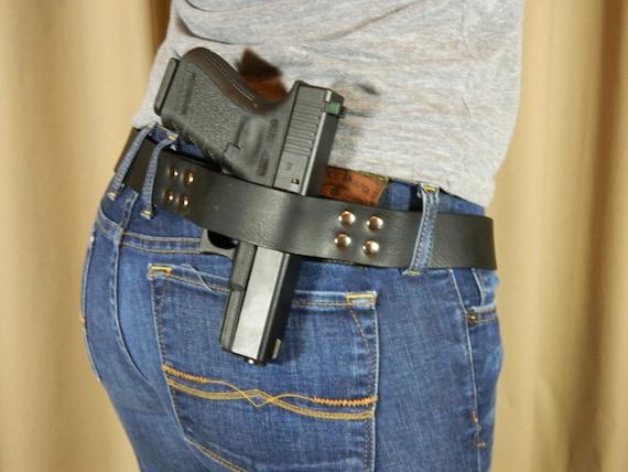Carry Open Belt Holster - Black