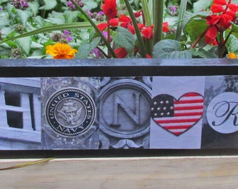 HONOR NAVY Sign military navy letter photo letter art wood art letters