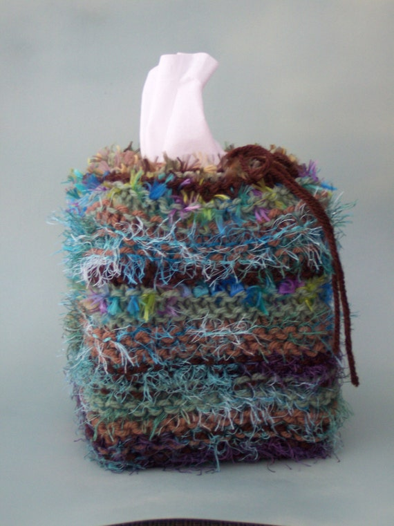 Knitting Pattern Tissue Holder : Soft Textured Tissue / Klenex Box Cover Knit or by ...