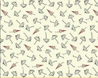 Ascot Red Umbrella Fabric -  Conversational 1800s Civil War Repro by Whistler Studios for Windham Fabrics 33320 2 - 1/2yard