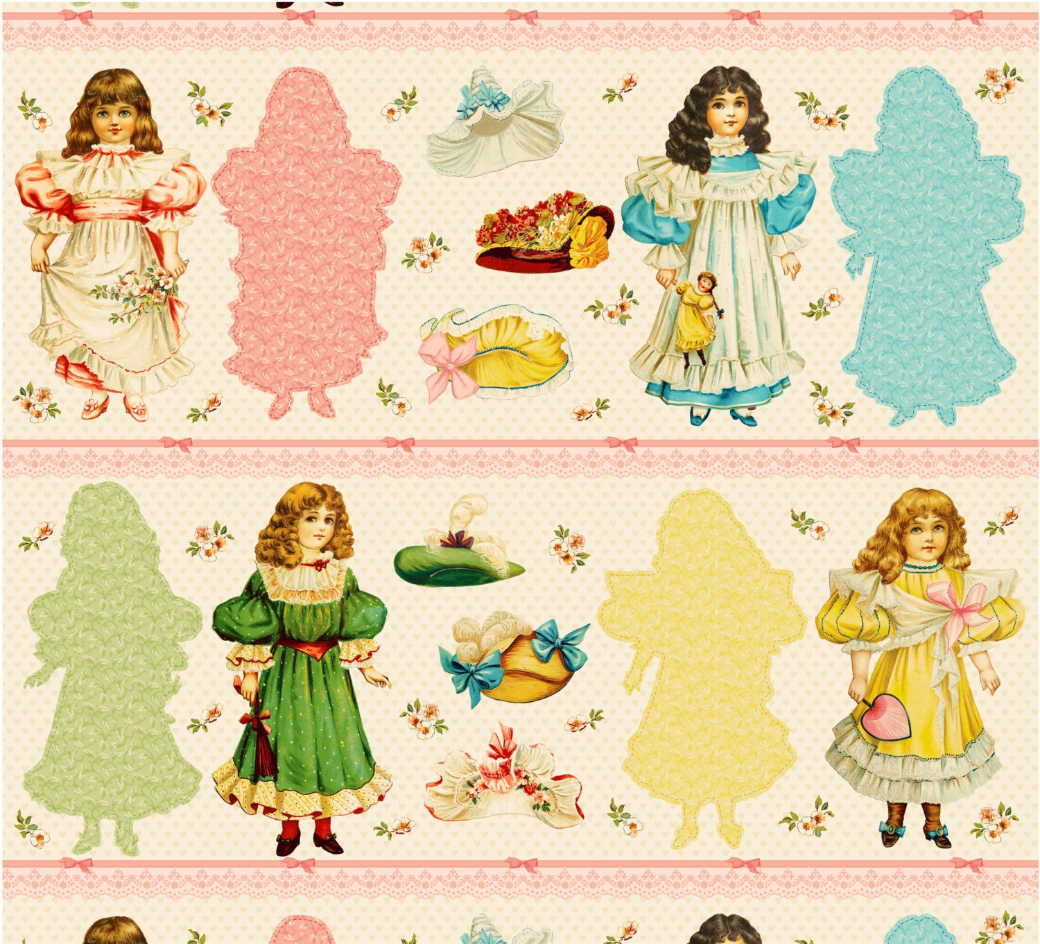 paper doll fabric