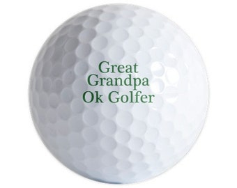 Imprinted Golf Balls 6 balls