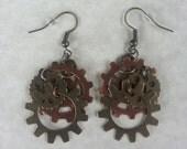 Steampunk Gear Earrings-009
