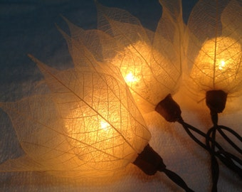 20x White Tone Flower Fairy String Lights Hanging Wedding Gift Party Patio Wall Floor Home Accent Floral Decor