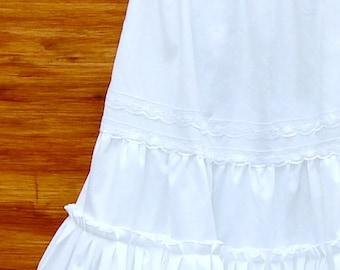 White Cotton Petticoat