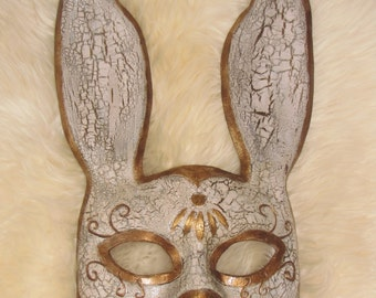 Distressed Leather Splicer inspired Rabbit Mask - Bioshock Cosplay Mask - Masquerade Mask