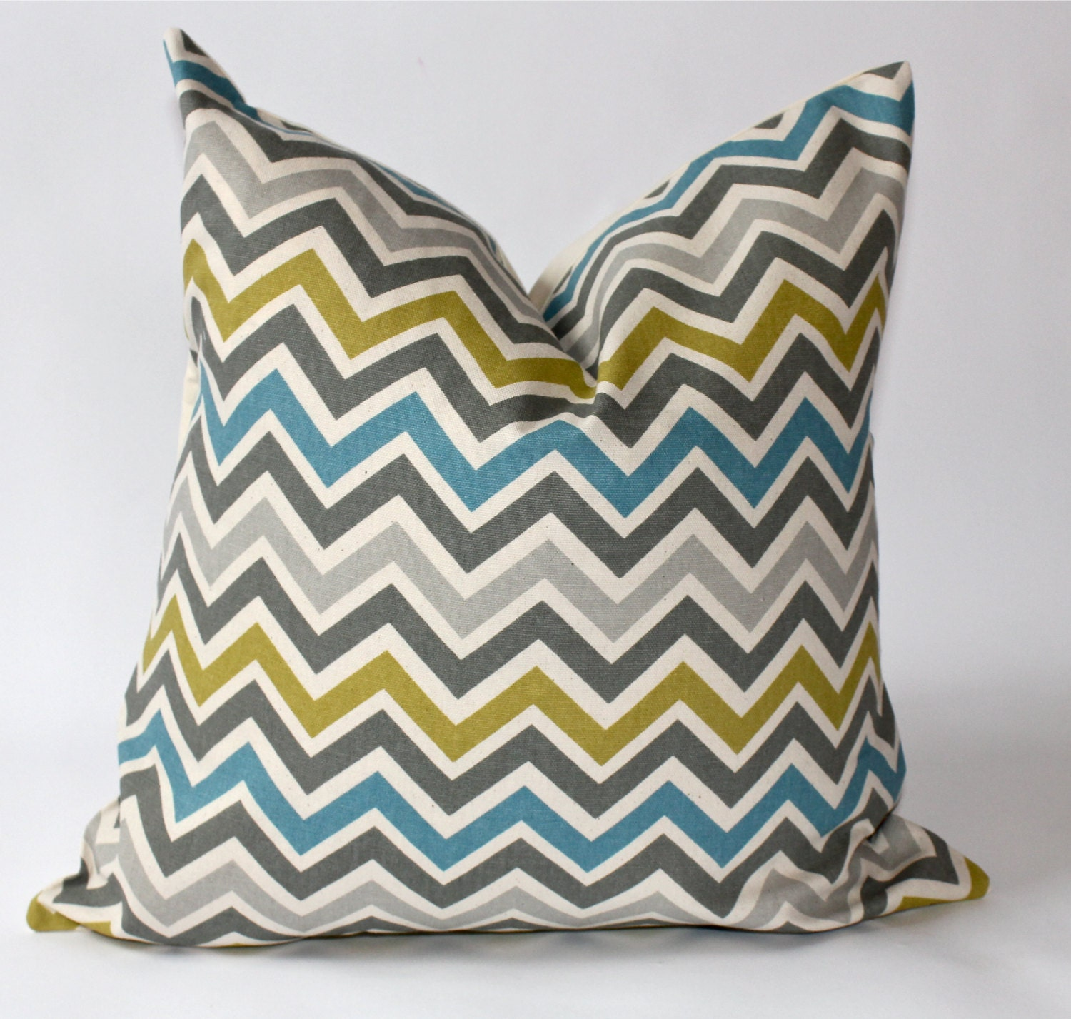 Throw Pillow Covers 18 Inches : 18 x 18 inch Decorative Pillow Cover Chevron by ThePillowPalette