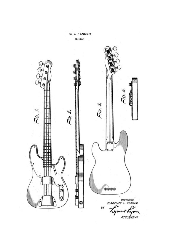 items similar to classic fender guitar 4 patent art