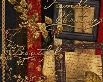 Gabriellee  Digital Scrapbook Kit