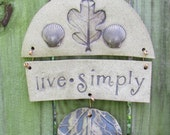 Live Simply Stoneware Wall Hanging