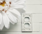 Light Socket Cover / Outlet Cover / Outlet Plate / Wall Outlet Cover / Shabby Chic Outlet Cover / French Country Decor / Customize Colors