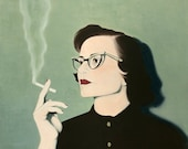 Print  8x10 - Smoking Woman