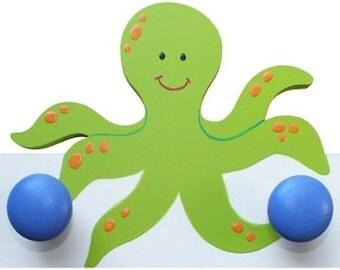 Wooden Octopus Hooks/Hangers