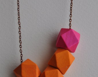 Geometric Summer Sorbet Necklace