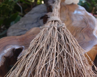 "16"" Handmade Halloween Brooms -  Decorative witches' Twig Brooms"