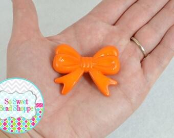 46mm Acrylic Bow Beads, 2ct, Orange