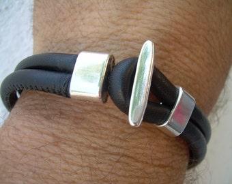 Nappa Leather Bracelet, Leather Bracelet, Bracelet, Jewelry, Mens Bracelet, Mens Jewelry, Mens Leather Bracelet, Womens Bracelet,