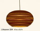 Pendant Lighting: Lifesaver 204 -- laser cut cardboard lamp