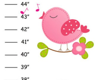 Personalized  Birds and Bird Houses Canvas Growth Chart