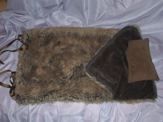 Faux Fur Sleeping Bag For Your American Girl Or 18 Inch Doll