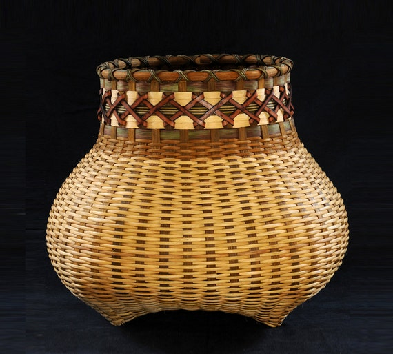Woven Basket Extra Large Cat Head Basket Ieather