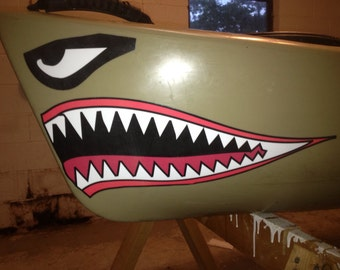 Kayak / Canoe Shark Mouth Decal 7 colors to choose from.