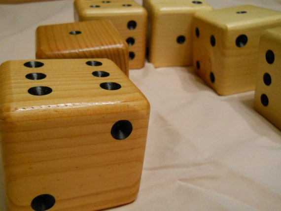 Lawn dice game set outdoor giant wooden dice by woodngames