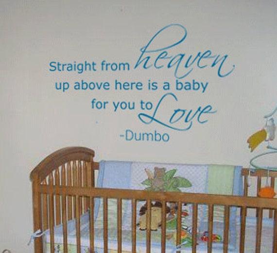 Disney Quotes Baby Girl: Items Similar To Straight From Heaven Walt Disney Dumbo