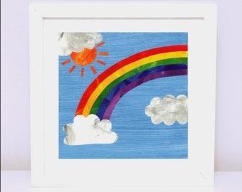 Art Print for Kids, Kids bedroom art, Nursery wall art, Bedroom Decor: Rainbow Magic