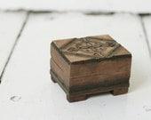 Vintage polish wooden little box, keepsake box, wooden case, wooden vintage