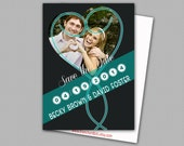 Custom Personalized Digital Wedding Save the Date Photo Cards, 5x7 PRINTABLE - SD2