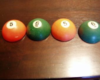 Half a vintage pool ball.