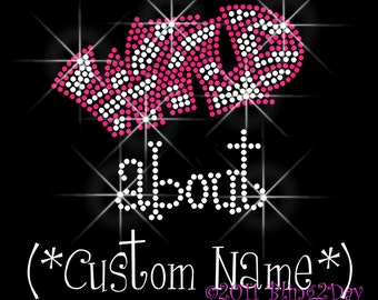 Wild about - Custom Name Up To 9 Characters - Iron on Custom Rhinestone Transfer Bling Hot Fix - Custom Color - DIY Custom Wild About Shirts