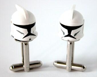 Best Man Gift - Geek Wedding - Star Wars Clone Trooper Cufflinks - LEGO Cufflinks - Mens Cufflinks - Groomsmen Gift - Father's day