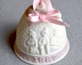 Lladro 1987 Porcelain Christmas Bell 1987 Snow Scene