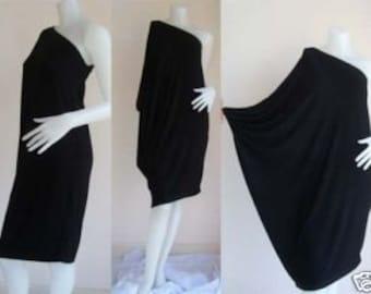 Black one shoulder Short evening dress casual elegance all size