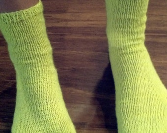 Neon Hand Knitted Socks
