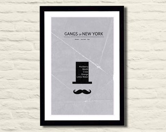 Gangs of New York Movie Poster Art Print 11 X 17, Minimalist, Modern Poster, Home Decor