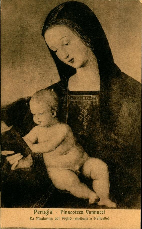 Raphael Perugia La Madonna col Figlio Pinacoteca Vannucci