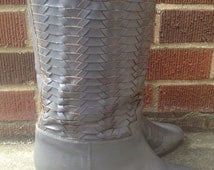 FRYE BOOTS // Grey Woven Leather // Size 6.5