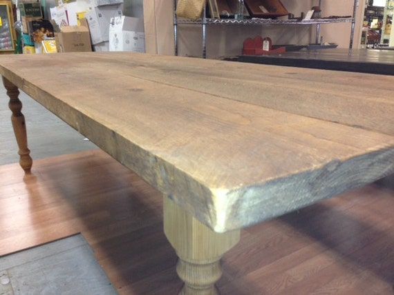 Items similar to Farm Table 8 Foot 2 inch thick Wide Board Waxed Plank Pine F
