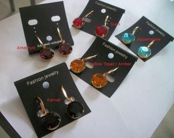 Designer Handmade Swarovski 60ss drop earrings , choice your color siam aqua etc