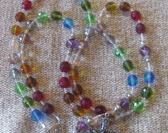 "Unique Rainbow ""Crazy Quilt"" Rosary"